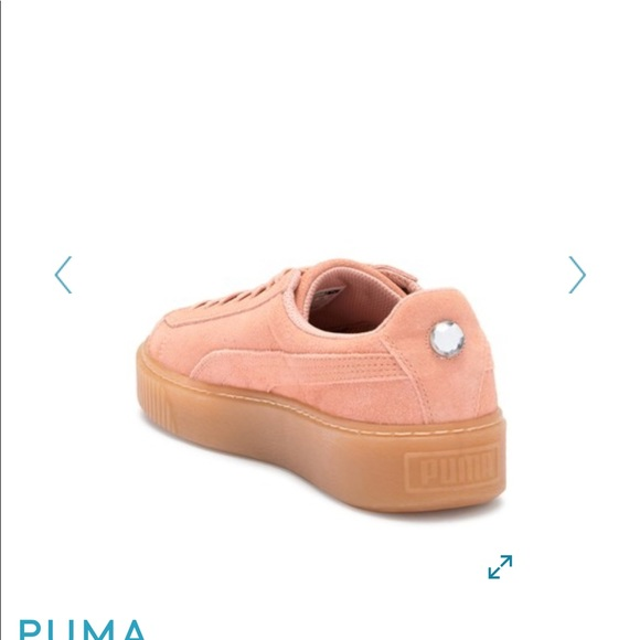 6b4199b35469 PUMA Suede Platform Jewel Sneaker. M 5b7744ebcdc7f7435ec1b903